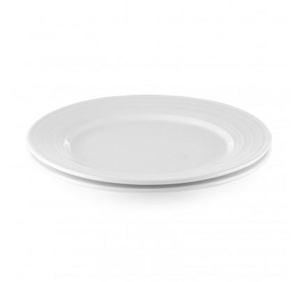 Set 2 plitvih porcelanastih krožnikov Rosmarino Cucina Deko - 26 cm