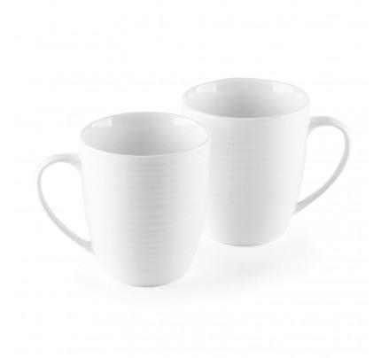 Set 2 porcelanastih lončkov Rosmarino Cucina Deko -  325 ml