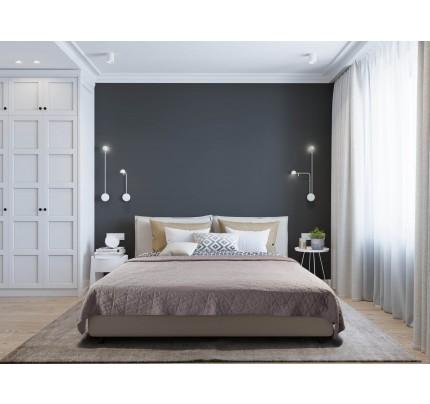 Pregrinjalo za posteljo Svilanit - sivo-rjavo