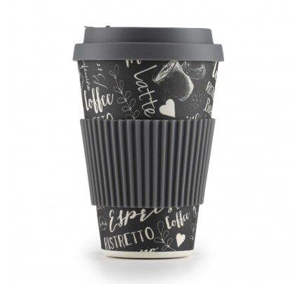 Bambusov lonček za kavo Black Coffee - 400 ml