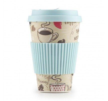 Bambusov lonček za kavo Hot Coffee - 400 ml