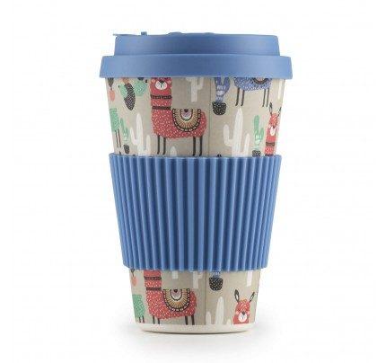 Bambusov lonček za kavo Lama - 400 ml