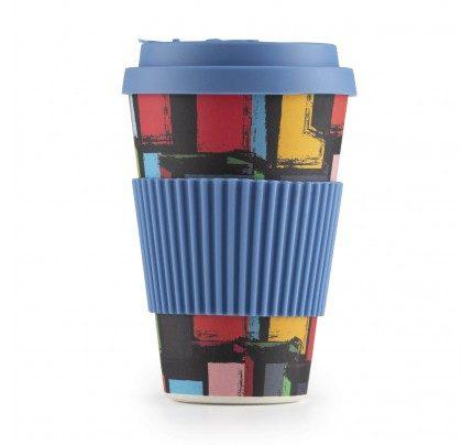 Bambusov lonček za kavo Kvadrat - 400 ml