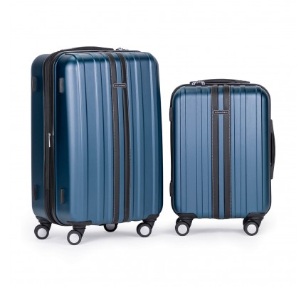 Set potovalnih kovčkov Scandinavia - modri, 40l in 65l
