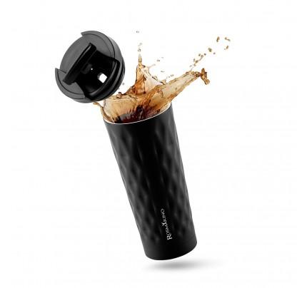 Termo lonček za kavo ali čaj Rosmarino 500 ml - črn