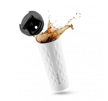Termo lonček za kavo ali čaj Rosmarino 500 ml - bel