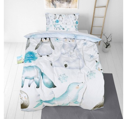 Otroška bombažna posteljnina Svilanit Penguin