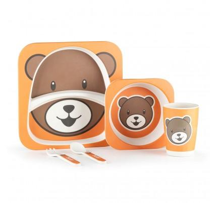 5-delni otroški bambusov set Rosmarino- medved