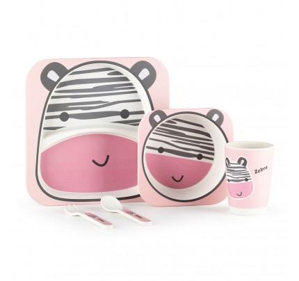 5-delni otroški bambusov set Rosmarino - zebra