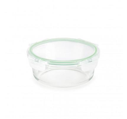 Okrogli stekleni pekač s pokrovom Rosmarino Bake&Go - 950 ml