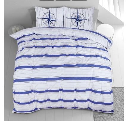 Bombažna posteljnina Svilanit Nautic Stripes