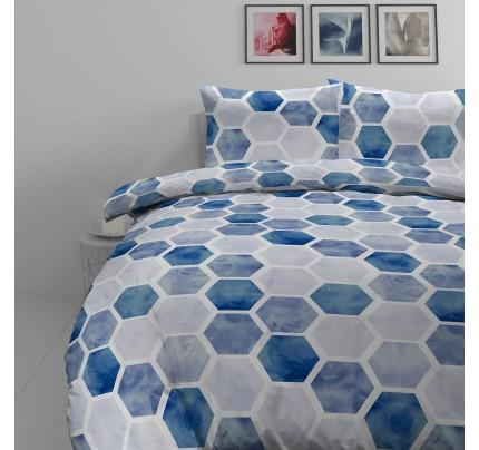 Bombažno-satenasta posteljnina Svilanit Hexagon Dreams