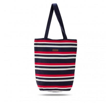 Mala plažna torba Svilanit Nautica - modro-rdeča