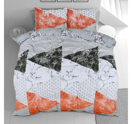Bombažna posteljnina Svilanit Geometric Pink
