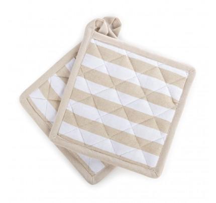 Set dveh kuhinjskih prijemalk Stripe
