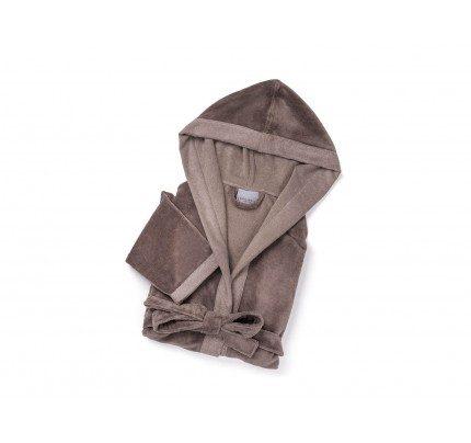 Kopalni plašč s kapuco Svilanit Bamboo Dream - sivo rjava