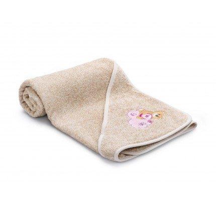 Otroška brisača s kapuco Svilanit Relax – bež, roza medvedek