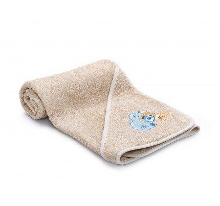 Otroška brisača s kapuco Svilanit Relax – bež, moder medvedek