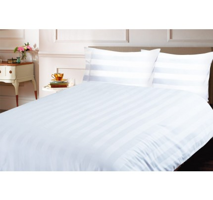 Bombažno-satenasta posteljnina Vitapur Isabella - bela