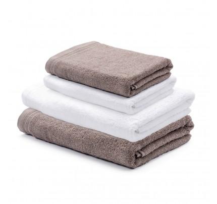 4-delni set brisač Svilanit Prima - sivo rjava/bela