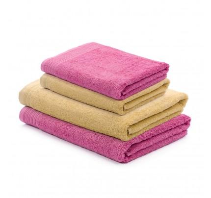 4-delni set brisač Svilanit Prima - rumena/roza