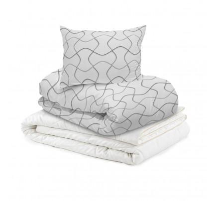 Set svilene odeje Diana in posteljnine Svilanit Path - 200x200 cm
