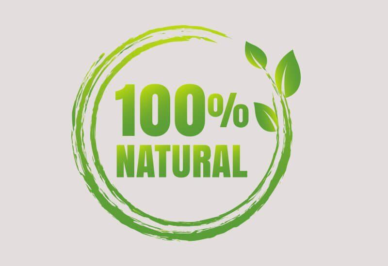 Kombinacija 100 % naravnih materialov