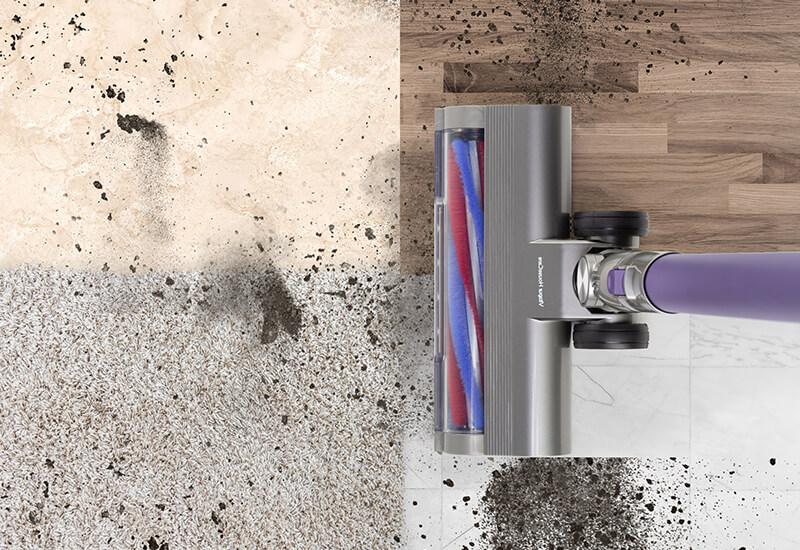 Ena zmogljiva krtača za vse vrste tal in popolne rezultate čiščenja