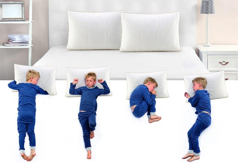 Idealna izbira ne glede na otrokov položaj spanja