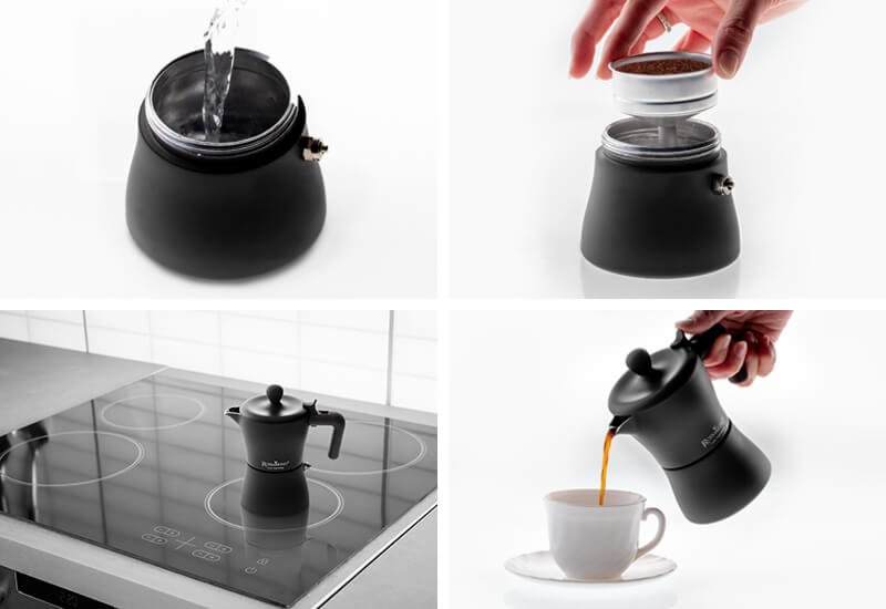 Priprava kave v le 4 korakih