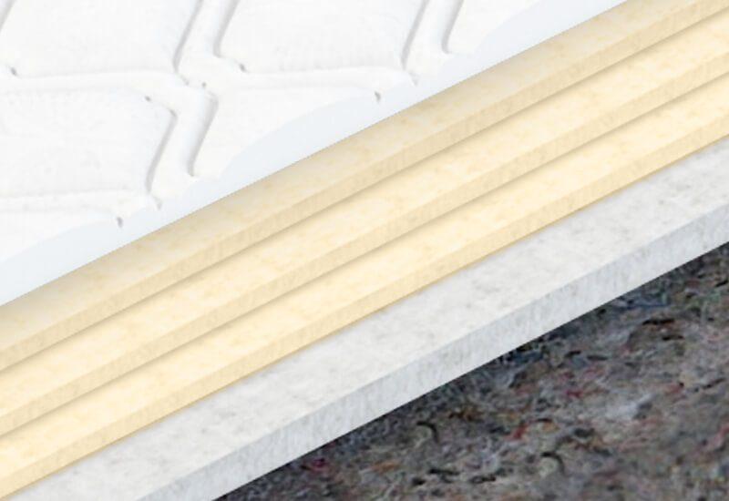 Dodatno udobje omogočajo 3 plasti hladno stiskane pene Sensa Memory in dodatna 2 cm v prevleki