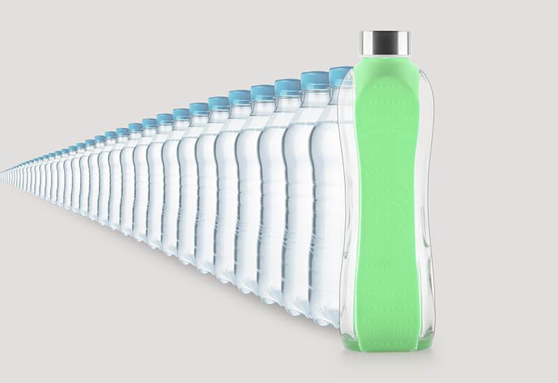 Trajnostna steklenica za večkratno uporabo