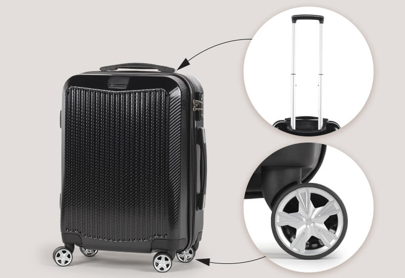 Praktičen in enostavno vodljiv kovček