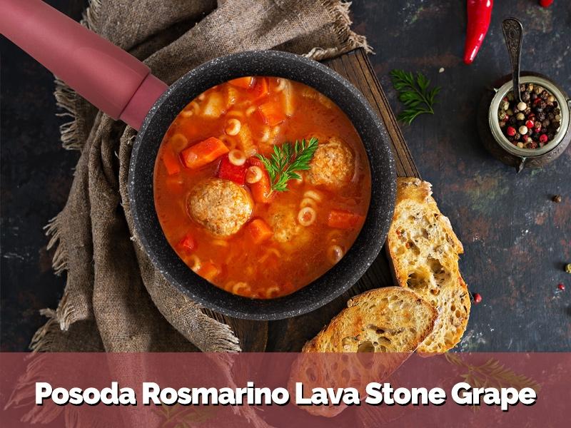 Posoda Rosmarino Black Lava Stone Grape