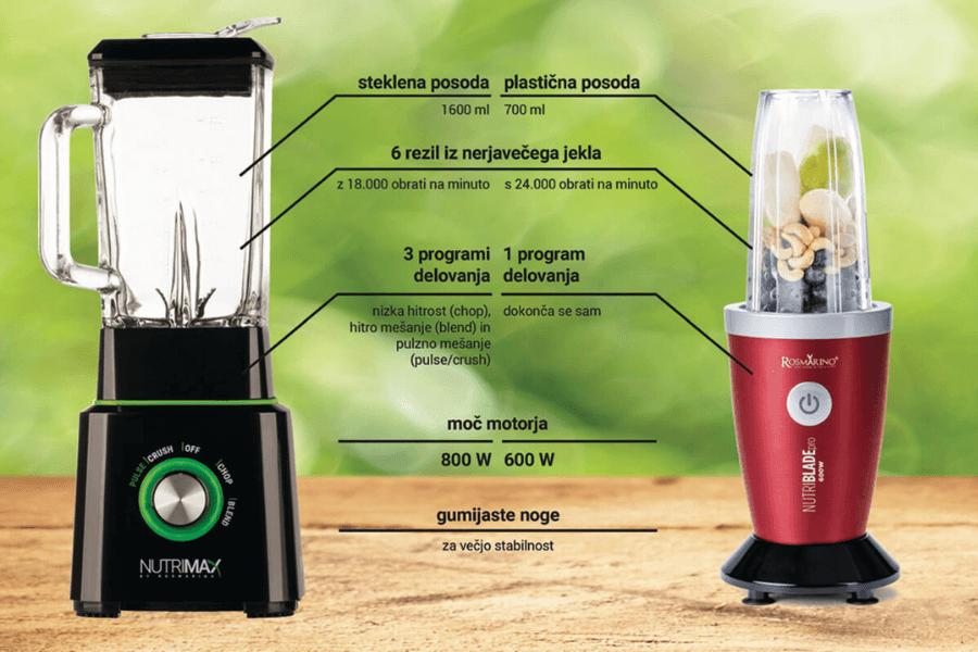 Mešalnik Nutrimax vs. Ekstraktor NutribladePRO
