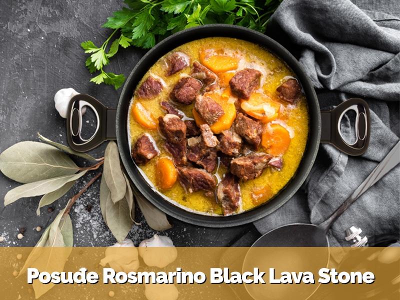 Posuđe Rosmarino Black Lava Stone